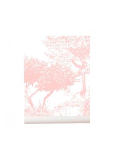 Papel pintado Hua Trees rosa Sian Zeng