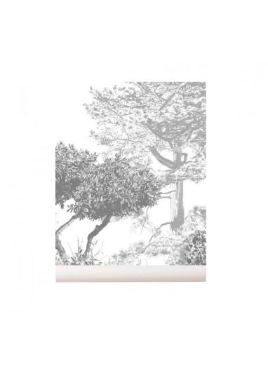 Hua Trees wallpaper Mural Grey Sian Zeng