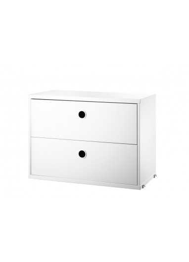 Chest 2 drawers white 58x30cm String a medida online
