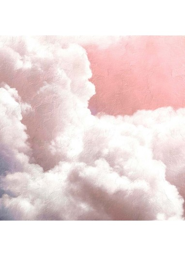 Mural Papel Pintado Clouds Rosa Coordonné