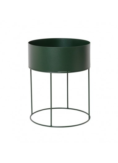 Plant Box Round Dark Green Ferm Living