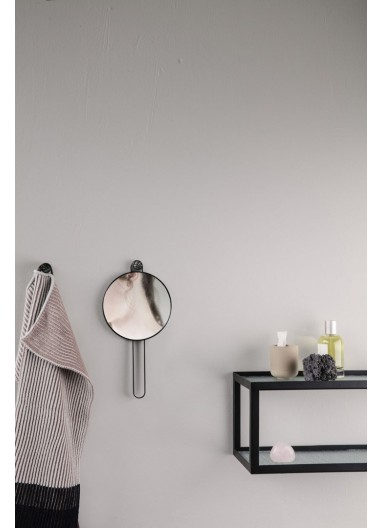 Poise Hand Mirror Black Ferm Living