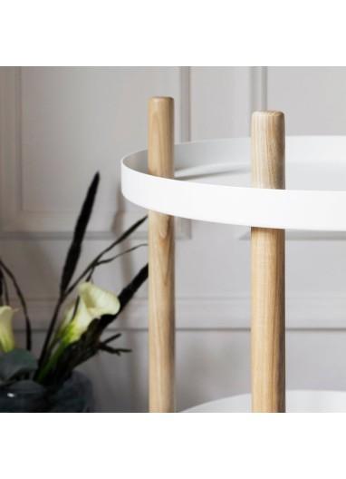 Block Table Ø45 cm White Normann Copenhagen