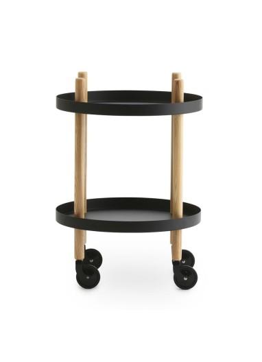 Block Table Round Ø45 cm black Normann Copenhagen