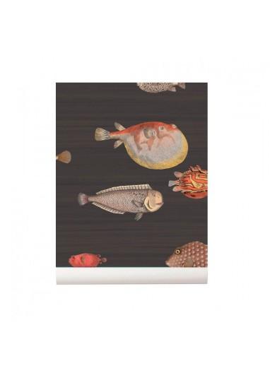 Papel pintado peces Acquario marrón Cole and Son