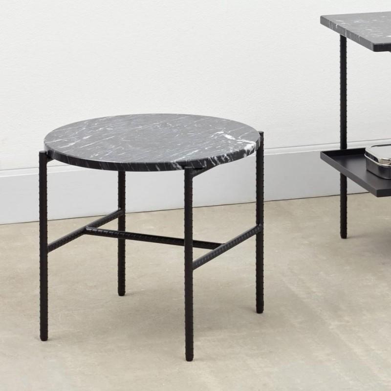 Hay Rebar Side Table.Rebar Round Side Table Marble Black Hay