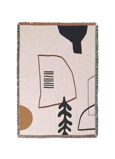 Mirage Blanket Off-White Ferm Living