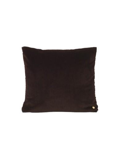 Cojin de pana Corduroy Chocolate 45x45 Ferm Living