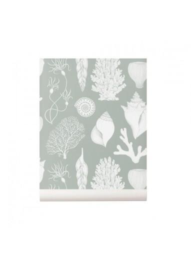 Shells Aqua  wallpaper Ferm Living