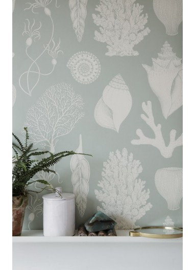Papel pintado Shells Aqua Ferm Living