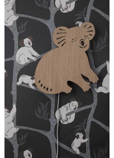 Papel pintado Koala Dark Green Ferm Living