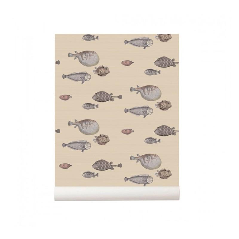 Acquario Fish Wallpaper Beige Cole And Son