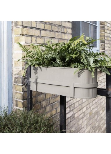 Bau Balcony Box Black Ferm Living