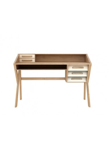 Origami Cream Oak Desk - Ethnicraft