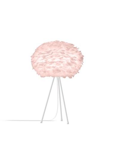 Lámpara Plumas Rosa de Mesa