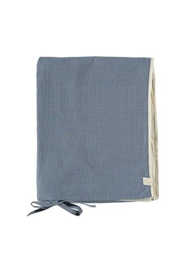Mini Check Blue Duvet Cover Camomile London