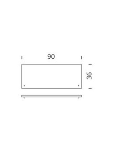 Tapa armario acero Blanco 90cm Tria 36 Mobles114