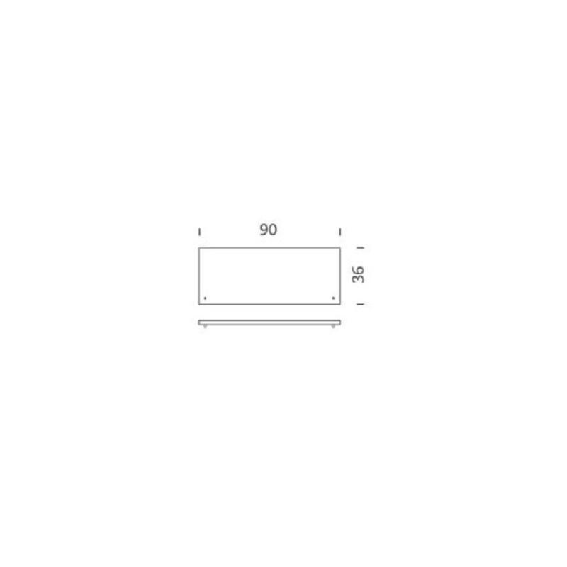 Estante barnizado de roble 90cm Tria 24 Mobles114