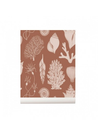 Shells Toffee  wallpaper Ferm Living
