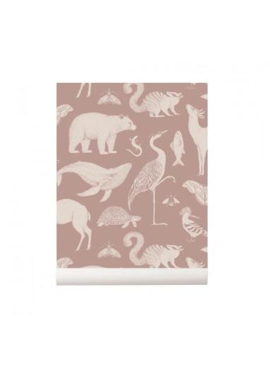 Papel pintado Animals Dusty Rose Ferm Living