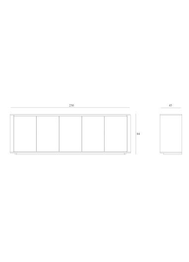 Shadow 5 doors Sideboard Ethnicraft