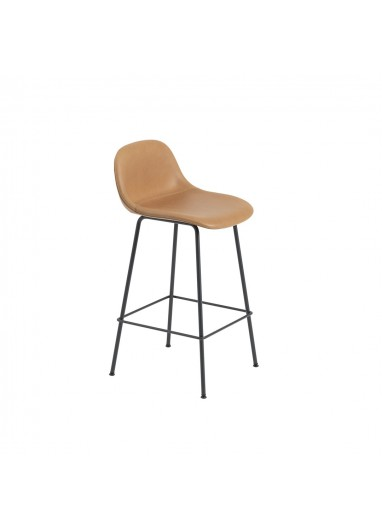 Bar chair with upholstered fiber Muuto backrest
