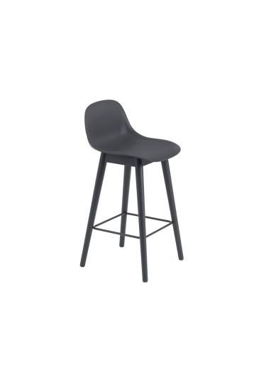 Wooden Bar chair with Fiber Muuto backrest