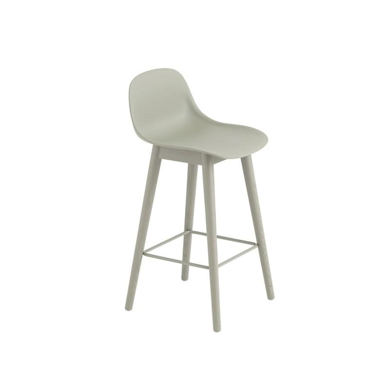 Super Wooden Bar Chair With Fiber Muuto Backrest Beatyapartments Chair Design Images Beatyapartmentscom