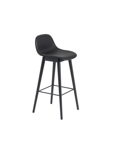 Wooden Bar chair with upholstered fiber Muuto backrest