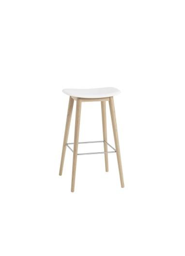 Wooden Bar chair with Fiber Muuto