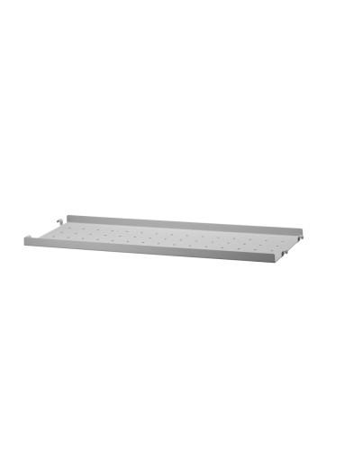 Metal Shelf Low Edge Grey 58x20cm String
