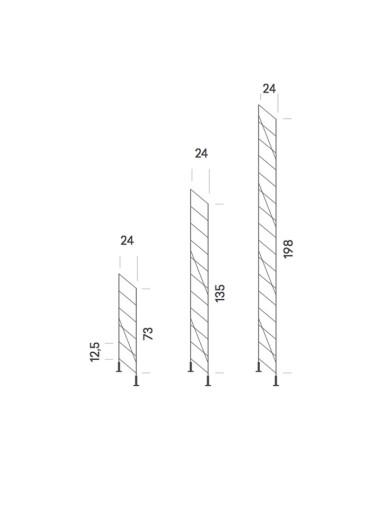 Soporte lateral suelo acero cromado 135cm Tria36 Mobles114