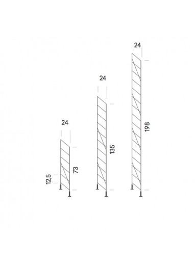 Tria24 steel side support floor 198cm chrome Mobles114