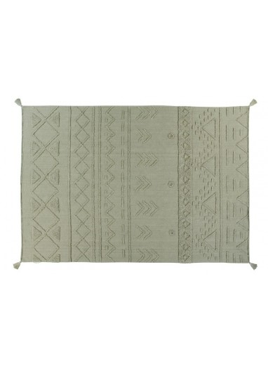 Washable Tribu Olive Rug Lorena Canals