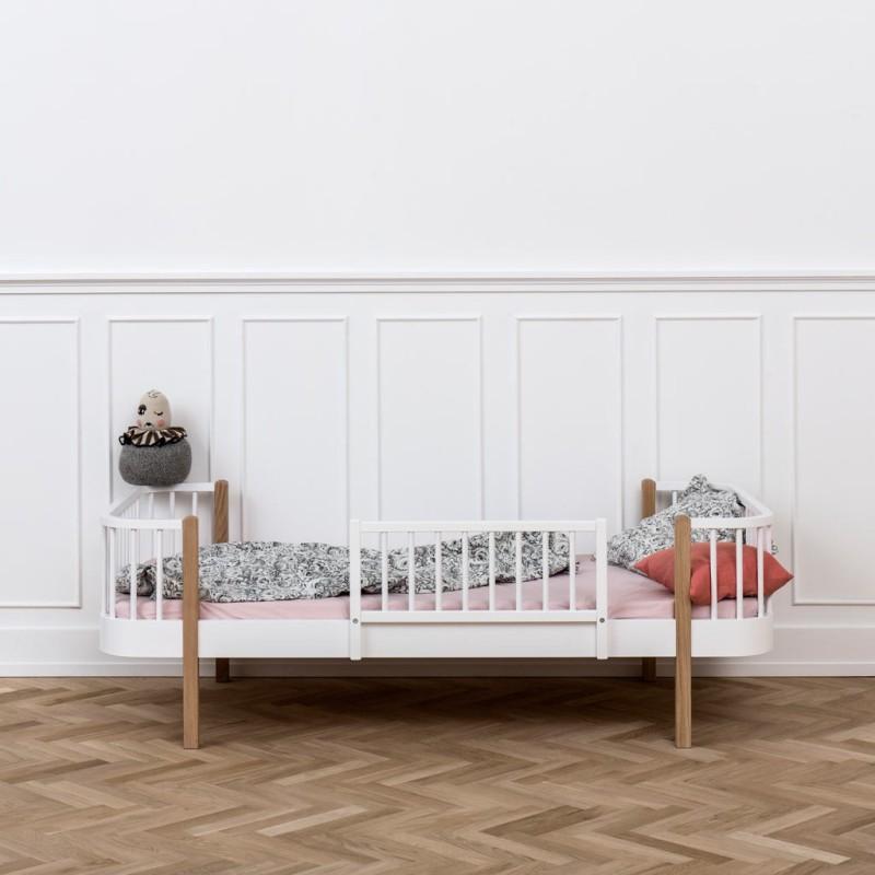Cama madera color blanco Wood Oliver furniture