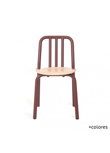 Silla Tube Wood Mobles114