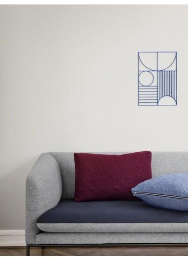 Cushion Quilt Light blue 60x40 Ferm Living