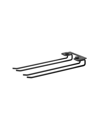 Wine glass hanger rack 1-pack for Metal shelf White M String +
