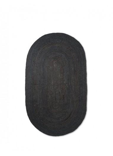 Alfombra Eternal Oval Jute S Black Ferm Living