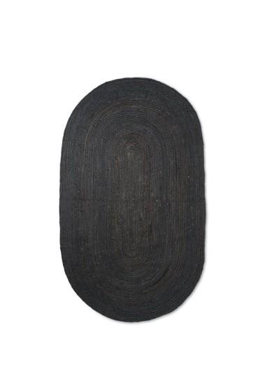 Eternal Oval Jute Rug S Black Ferm Living