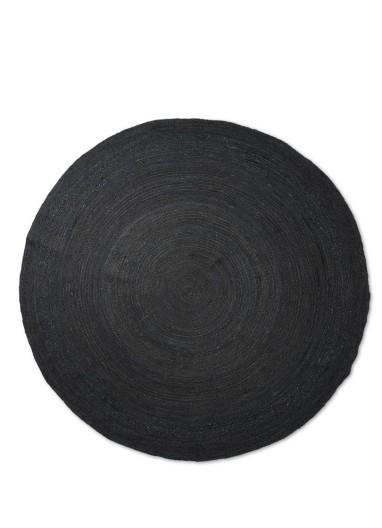 Eternal Round Jute Rug L Black Ferm Living
