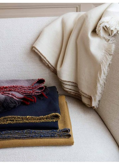 Herringbone Blanket - Off-White Ferm Living