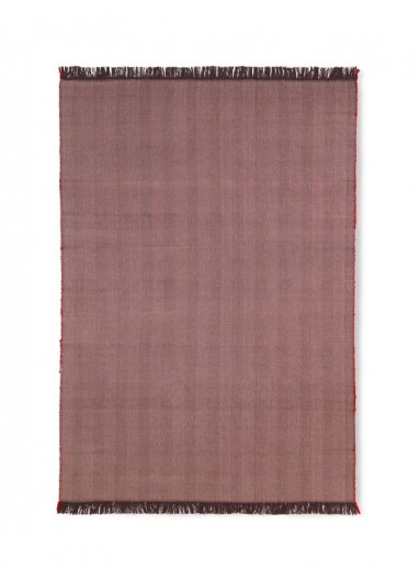 Herringbone Blanket - Aubergine Ferm Living