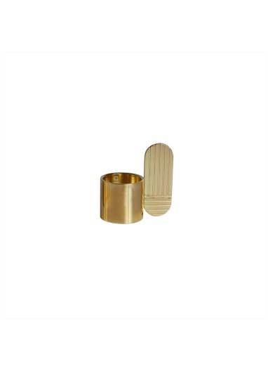 Art Candleholder Oval Brass OYOY