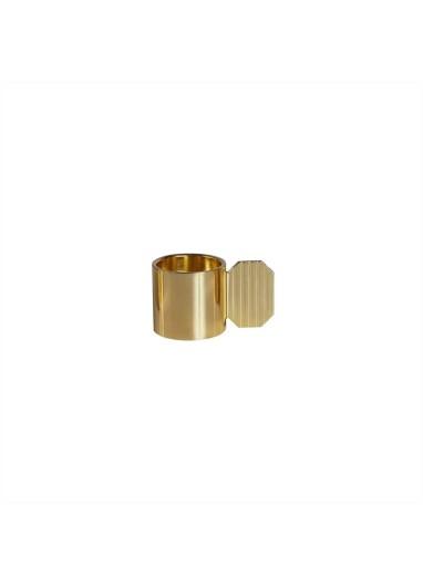 Art Candleholder Hexagon Brass OYOY