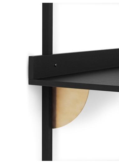 Sector Desk - Black Ash-Brass Ferm Living