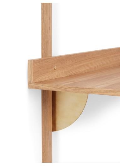 Sector Desk - Oak - Brass Ferm Living