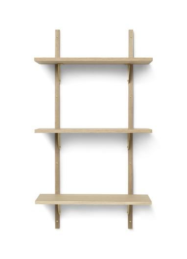 Sector Shelf T/N - Oak - Brass Ferm Living