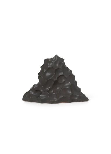 Berg Ceramic Sculpture - High - Black Ferm Living