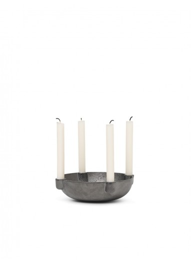 Bowl Candle Holder - Black Brass - Small Ferm Living